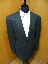 Mens Blazer Sport coat Jacket Brooks Brothers 44r Black & Gray H.T Wool S-#56