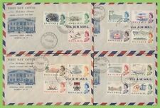 Bahamas 1965 QEII definitive set to £1.00 four illust. airmail First Day Covers