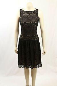 NEW Ralph Lauren -Size 10/12- Black Lace Cocktail Dress-RRP:$174.00
