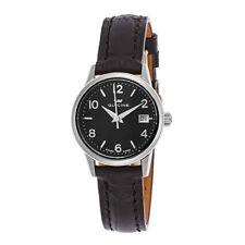 Glycine 3909-19-LBK9 Ladies Swiss Made Genuine Leather Black Dial Women's Watch