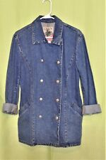 Crazy Horse Denim Peacoat Size Small