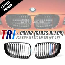 Gloss Black M Tri Color Front Grille for BMW 1 Series E81 E87 E82 E88 2008-2013