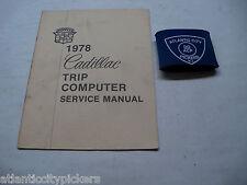 1978 CADILLAC TRIP COMPUTER SERVICE SHOP REPAIR MANUAL