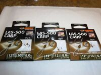 MIDDY LAS - SOO CARP HOOKS TO NYLON, HAIR SYSTEM BARBLESS SIZE,10,12,14 set/3