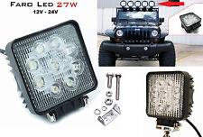 Faro supplementare LED Auto,Suv.12-24V universale.Faretto quadrato fendinebbia