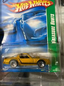 Mint!•2008•Hot Wheels•Treasure Hunt•Gold•Pontiac Firebird•Hot Bird•#5 of 12•#165