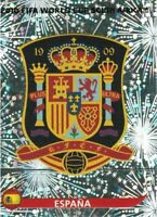 Panini WM 2010 563 Spanien Spain World Cup 10 Wappen Logo Glitzer Badge Foil