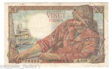 20 Francs Pecheur 10/02/1944 SUP ( 381 )
