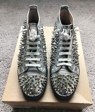 Authentic Christian Louboutin Louis Spikes Leather Mens Sneaker US12 EU45 UK11