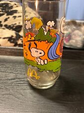 Mc Donalds Peanuts Snoopy Camp Collection Drinking Cup Glasses Vintage