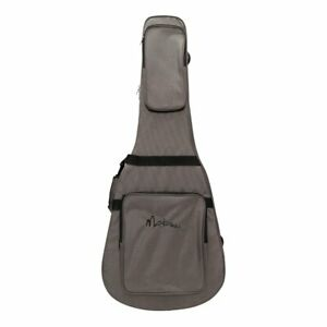 NEW Martinez Deluxe Polyfoam Shaped Dreadnought Acoustic Guitar Case Gig Bag