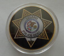 Illinoise  POLICE   DEPARTMENT  24K GOLD  PLATED 40 mm  Challenge  COIN  #1
