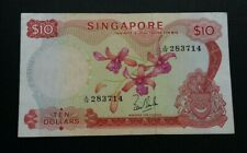 SINGAPORE ORCHID SERIES $10 A/19 283714 VF
