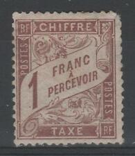 "FRANCE STAMP TIMBRE TAXE N° 25 "" TYPE DUVAL 1F MARRON "" NEUF x A VOIR  M850"
