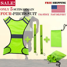 High Visibility Reflective Vest Safety Hi-Vis Jacket for Running Cycling Night