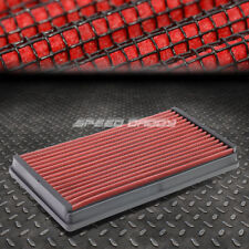 FOR 00-04 FORD FOCUS 2.0L RED REUSABLE/WASHABLE DROP IN AIR FILTER PANEL