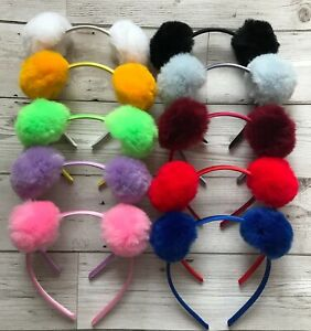 Pompom hairbands - Girls hair accessories - Back to school - Dance - parties etc