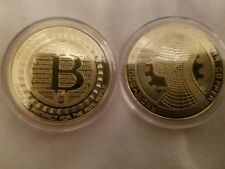 bitcoin coin 24k gold plated token digital currency cryptocurrencie