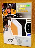 2017-18 Ultimate Collection Debut Threads /25 CHARLIE MCAVOY Rookie Autograph