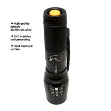975 Lumen 5 Modes Zoomable Rechargeable Cree T6 LED Flashlight Torch W878 Black