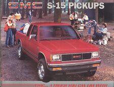 1985 GMC Sierra S-15 Pickup Truck Brochure - Mint!