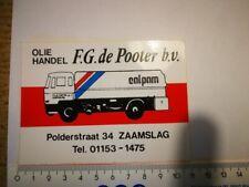 R6*  retro sticker OLIEHANDEL ZAAMSLAG CALPAM OIL TRUCK racing rally autocollant