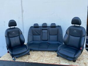 FRONT REAR SEAT SEATS SET BLACK SPORT INTERIOR INFINITI Q50 (14-17) OEM