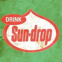 SUNDROP SODA POP VINTAGE STYLE LOGO HEAVY DUTY USA MADE METAL ADVERTISING SIGN