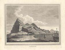 España. Andalucía. «Vista del peñón de Gibraltar»