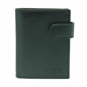 Man Vegan Leather Black Clip Wallet Trifold Sustainable Card Slots Coin Pocket