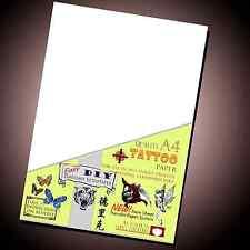New Temporary Tattoo Transfer Paper - Movie fx - DIY Inkjet Waterproof Tattoos..