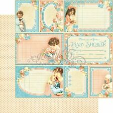 Graphic 45 2 sheets Precious Memories collection cutie pie double sided