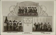 Marlborough UK British Empire Exhibition Costumes ReaL Photo Postcard