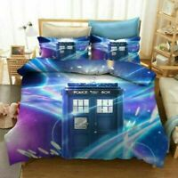 3D TARDIS Check Doctor Who Bedding Set Doona Quilt Cover Duvet Cover PillowCase