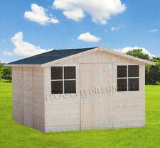 CASETTA IN DI LEGNO BOX 320x325 porta singola attrezzi giardino casette 300X300