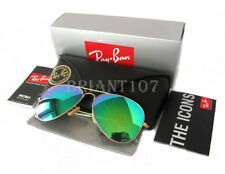 Unisex Sunglasses Ray-Ban RB3025 Aviator Gold/Green Mirror 112/19  58mm+Gift bag