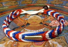 Buddha Sacred LARGE Sai Sin BRACELET with 2 MALA BEADS blessed Buddhist Monk.