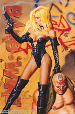 Lot Of 2 Posters :Comic Book Character : Barb Wire - Free Ship #2980 Rw15 U
