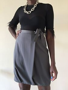 Giorgio Armani Light Grey Bubble skirt Pure Wool Size 42/ Uk 8 evening designer