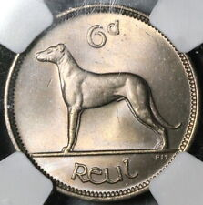 1948 NGC MS 65 Ireland 6 Pence Irish Wolfhound Mint State Coin (19091101C)