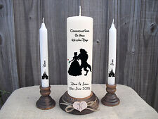 Personalised Wedding Unity Candle Set Disney Beauty & The Beast Gift Keepsake
