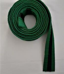 BOLD LOOK Martial Arts Belt Karate Jiu jitsu Judo - GREEN w/Black Stripe- No Tag