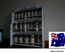 Spice Rack will hold 18 to 36 jars HERB & SPICE  IN WHITE   Made in Australia