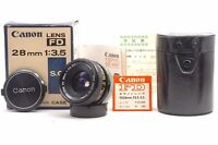 @ Ship in 24 Hours! @ Mint in Box! @ Canon FD 28mm f3.5 S.C. Lens from Japan