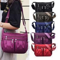Women Handbag Nylon Canvas Shoulder Bag Messenger Crossbody Mama Bag Waterproof