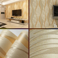 33ft 3D Modern Abstract Gray Wallpaper Plain Wave TV Background Wall Living Room