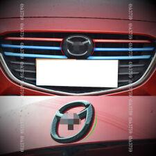 For Mazda 3 Axela sedan 17-18 ABS Carbon fiber pattern Front and rear car logo