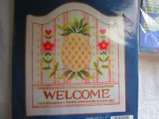 Pineapple Welcome Sign Crewel Stitchery Kit
