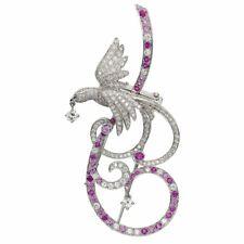 Van Cleef Arpels Birds of Paradise Pink Sapphire Diamond Brooch Pendant