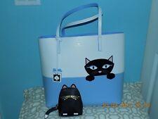 NWT Kate Spade Peeking Cat Jazz Things Up Little Len Large Tote & Change Purse